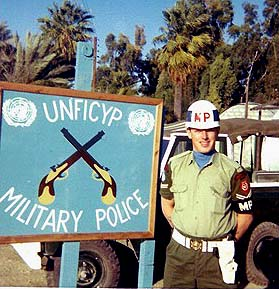Photo of Cpl Art Luard serving with the UNFICYP MP Coy Cyprus - 1968/69.