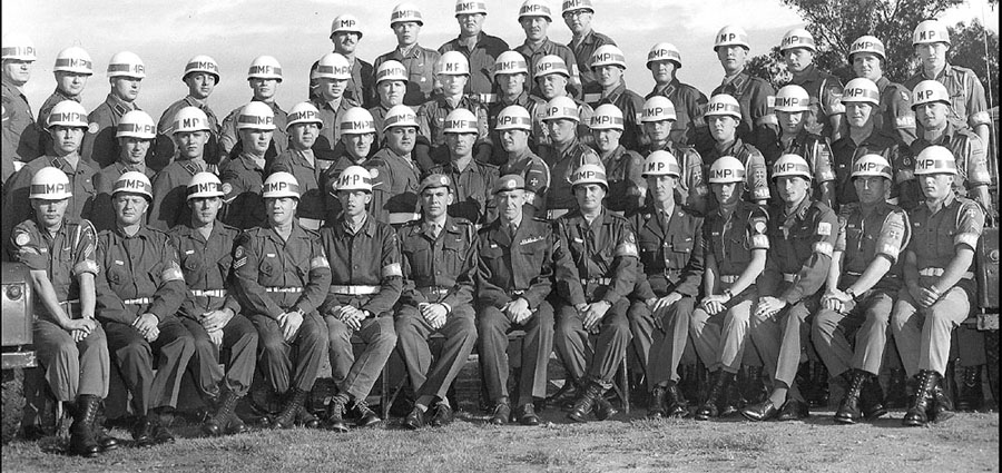 Group photo of UNFICYP MP Coy 1964 - 1965.