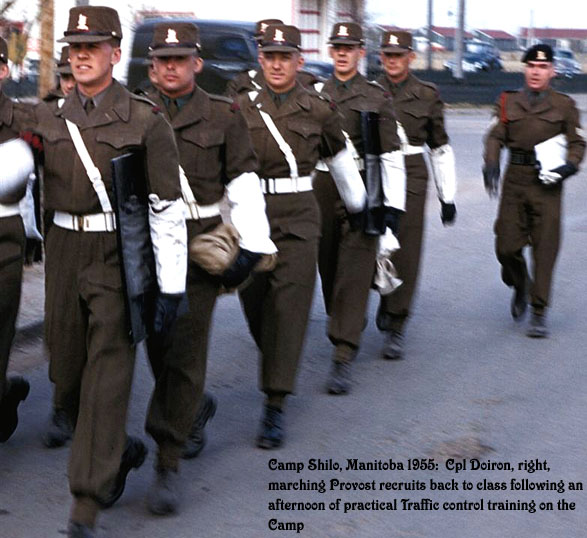 Photo of Provost recruits marching.
