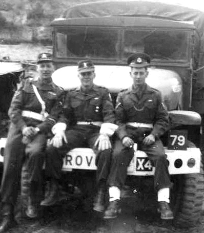 Member of C Pro C, Axel Nickolson, left and colleagues of the UN Commonwealth Forces in Korea-1953/54.