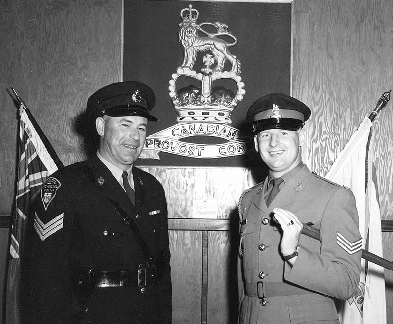 Sgt Don Tresham and an OPP Sgt.