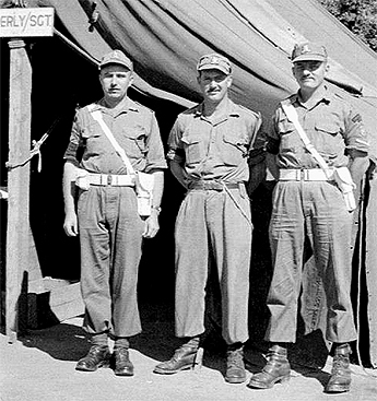 Photo of three unidentified former members of the C Pro C who served in Korea in 1951/52.