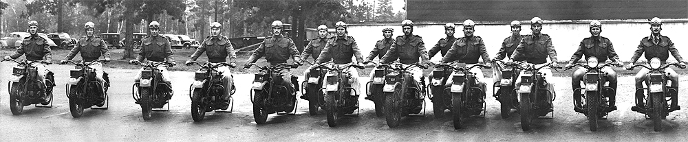 A C Pro C Motorcycle Platoon in England during WWII - F - Platoon - image-A.