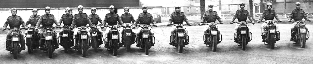 A C Pro C Motorcycle Platoon in England during WWII - F - Platoon - image-B.