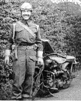 Former CF Director Of Security and his motorcycle during WWII.