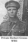 Photo of Pte Herbert Greeno - 1916.