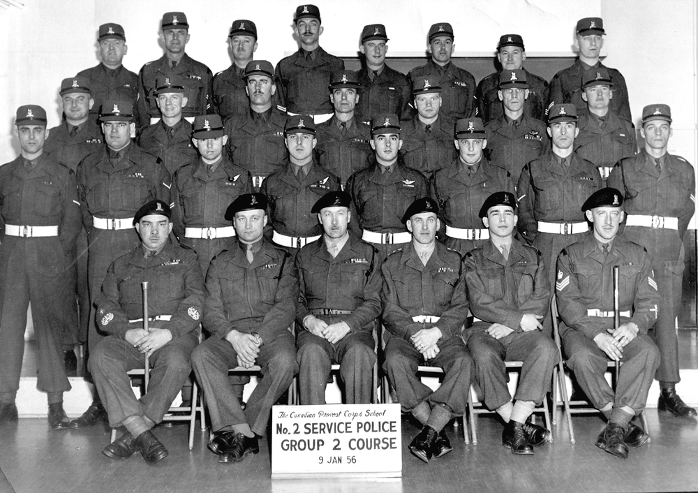 Photo of No.2 Sevice Police Group 2 Course - 1956.