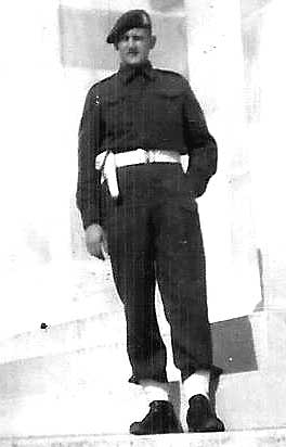 Photo of LCpl Landstra in 1944.