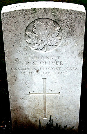Image of Lt Oliver's headstone