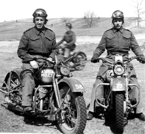 Photo-2 of Provost on Motorcycle training during WWII at CTC Camp Borden - 1943 -45.