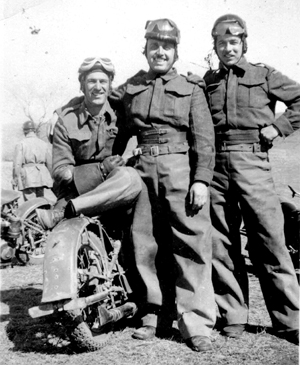 Photo-3 of Provost on Motorcycle training during WWII at CTC Camp Borden - 1943 -45.