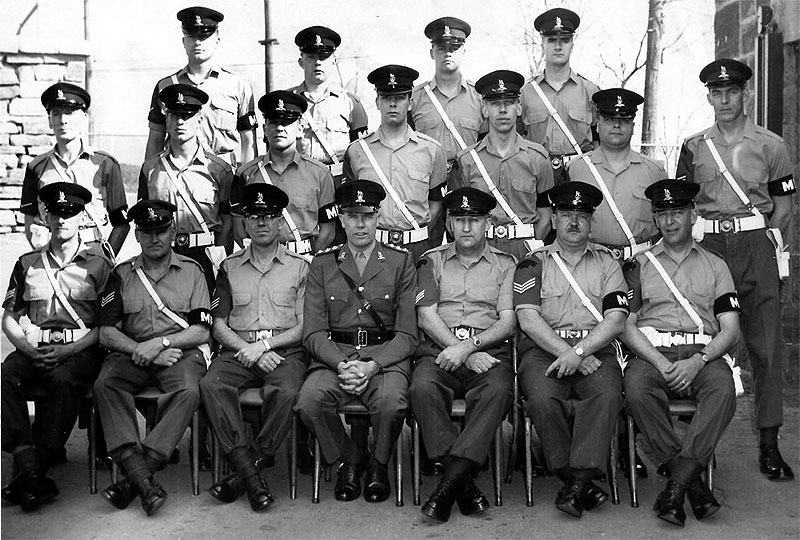 Group photo of members of Quebec Provost Det - 1965.