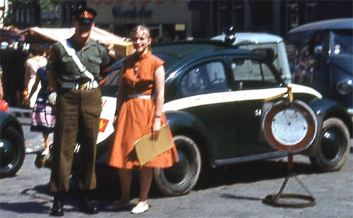 LCpl Axelson Nickolson and unidentified lady.